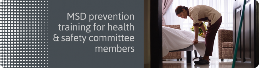 MSD prevention for health & safety committee members