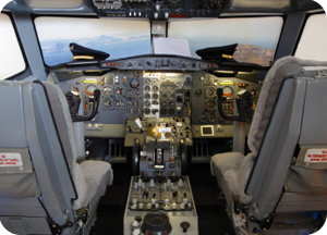Airplane cockpit control panel