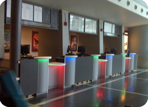 box office ticket counters