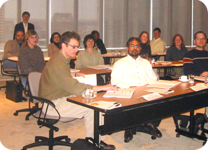 Attendees at a training session